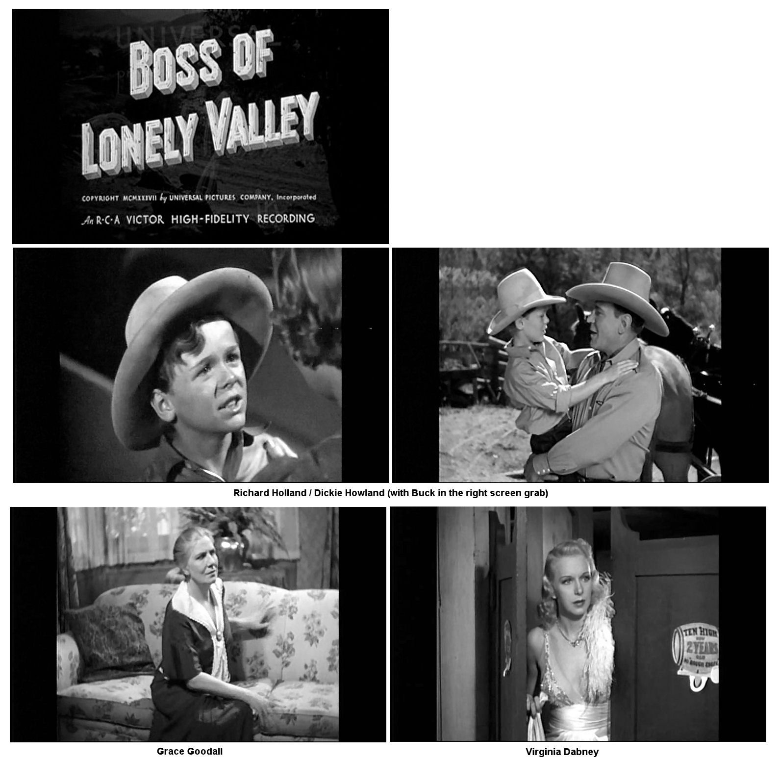 Virginia Dabney, Grace Goodall, Richard Holland, and Buck Jones in Boss of Lonely Valley (1937)