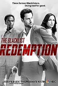 Famke Janssen, Edi Gathegi, and Ryan Eggold in The Blacklist: Redemption (2017)