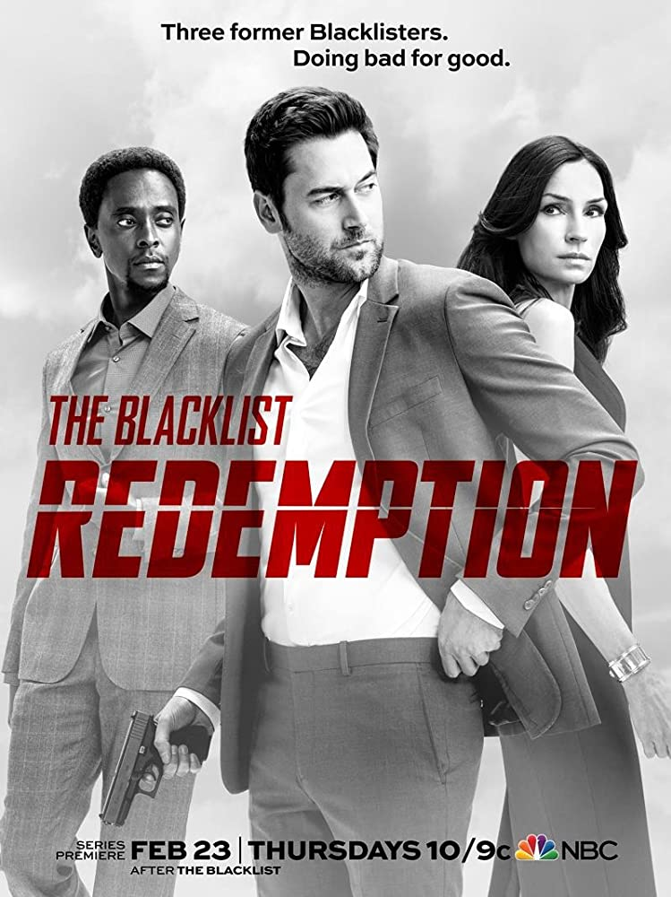 Famke Janssen, Edi Gathegi, and Ryan Eggold in The Blacklist: Redemption (2017)