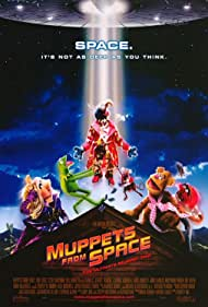 Frank Oz, Bill Barretta, Dave Goelz, Steve Whitmire, The Great Gonzo, Rizzo The Rat, Kermit the Frog, Miss Piggy, and Fozzie Bear in Muppets from Space (1999)