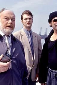 Timothy Dalton, David Morrissey, and Timothy West in Framed (1992)