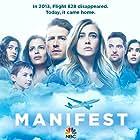 Athena Karkanis, Luna Blaise, Josh Dallas, J.R. Ramirez, Melissa Roxburgh, Parveen Kaur, and Jack Messina in Manifest (2018)