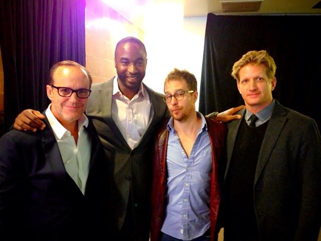 Clark Greg, Dawan Owens, Sam Rockwell and Paul Sparks at the 2013 Tribeca Film Festival premiere of Trust Me.