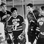 Colombe Jacobsen-Derstine, Aaron Lohr, Ty O'Neal, Mike Vitar, and Justin Wong in D2: The Mighty Ducks (1994)