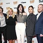 Jessica Biel, Michelle Purple, Skip Bronkie, Rebecca Thomas, Zack Akers, and Phillip Faraone at an event for Limetown (2019)