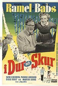 Alice Babs, Sigge Fürst, and Povel Ramel in I dur och skur (1953)