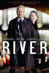 Stellan Skarsgård and Nicola Walker in River (2015)