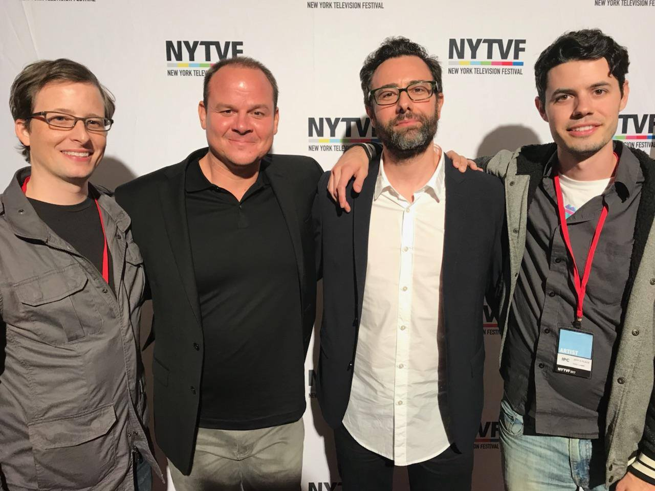 Left to Right: Andrew Fleischer, Sky Soleil, Jeff Galfer and Kent Lamm at the New York Television Festival.