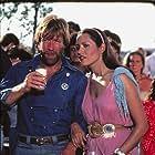 Barbara Carrera and Chuck Norris in Lone Wolf McQuade (1983)