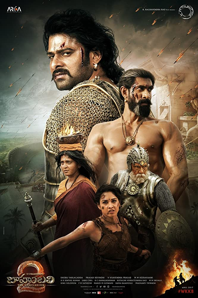 Sathyaraj, Prabhas, Tamannaah Bhatia, Anushka Shetty, and Rana Daggubati in Baahubali 2: The Conclusion (2017)