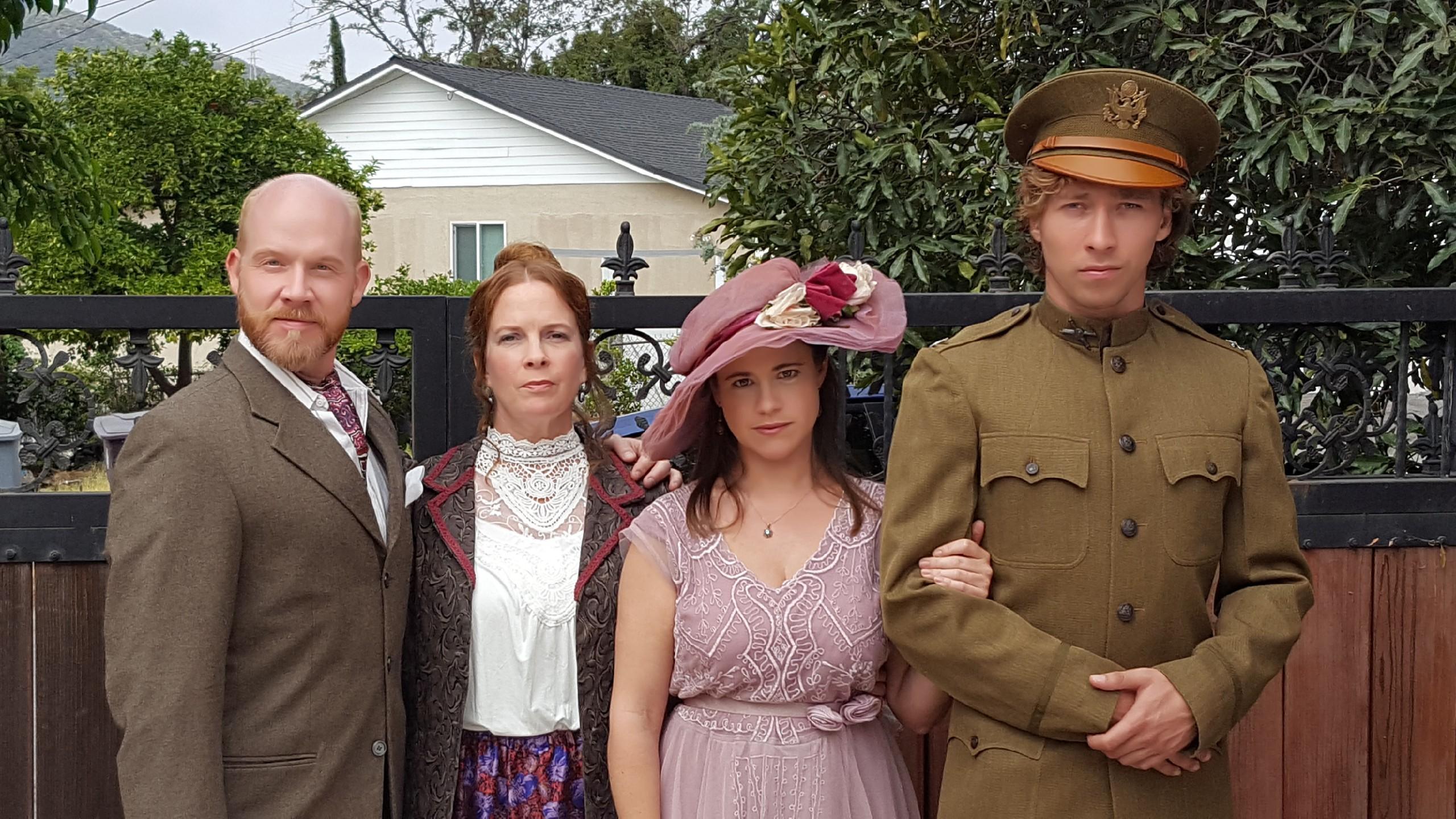 Kevin Gardner, Jen McAllister, Anne Letscher, and Daniel Olson in Compton Abbey (2018)
