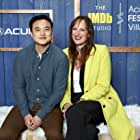 Jen Richards and Leo Sheng at an event for The IMDb Studio at Acura Festival Village (2020)