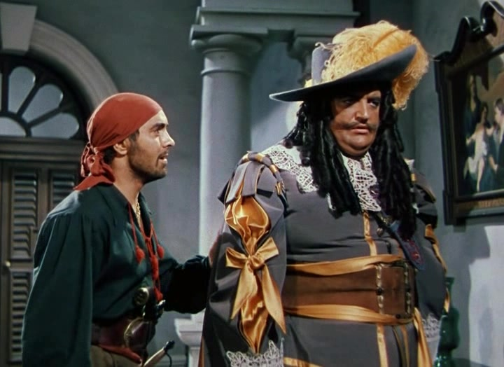 Tyrone Power and Laird Cregar in The Black Swan (1942)