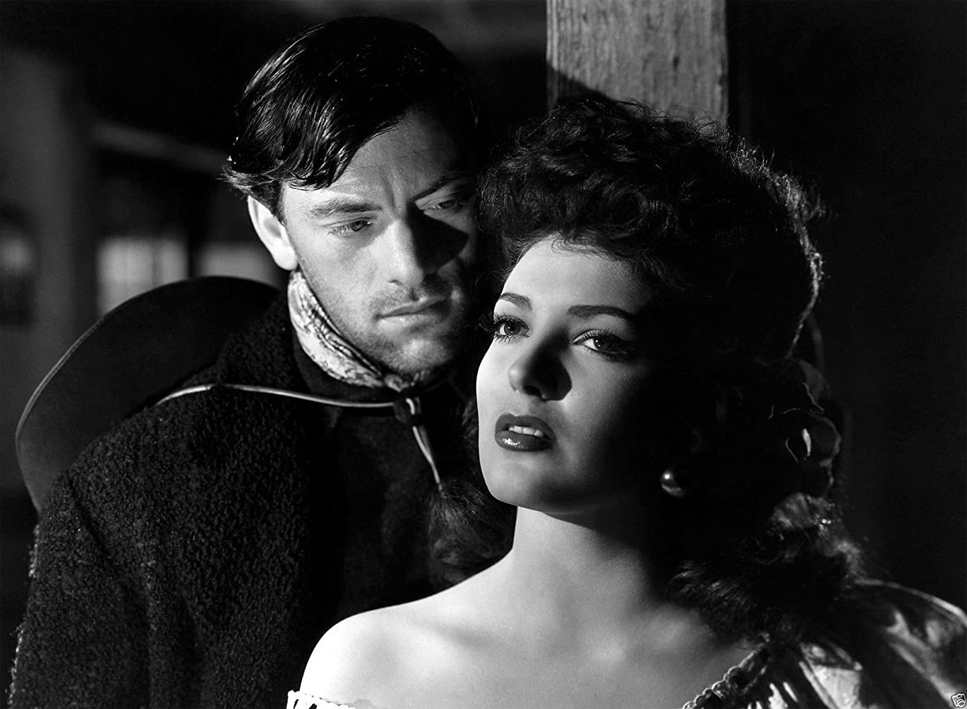 Linda Darnell and John Ireland in My Darling Clementine (1946)