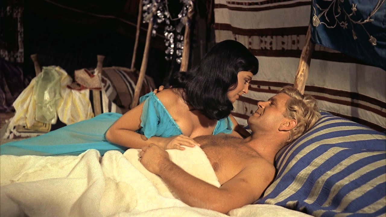Anna Maria Sandri and Anthony Steel in The Black Tent (1956)