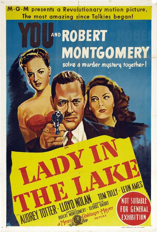 Jayne Meadows, Robert Montgomery, and Audrey Totter in Lady in the Lake (1946)