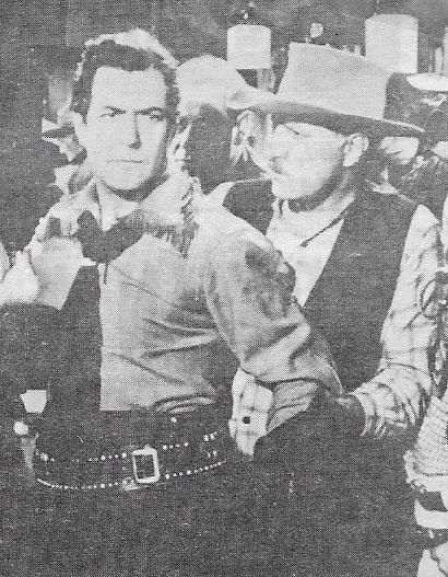 Johnny Mack Brown and Frank Ellis in Flaming Frontiers (1938)