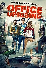 Jane Levy, Brenton Thwaites, and Karan Soni in Office Uprising (2018)