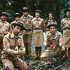 Aysen Gruda, Sener Sen, Kemal Sunal, Ahmet Ariman, and Feridun Savli in Hababam Sinifi Tatilde (1977)