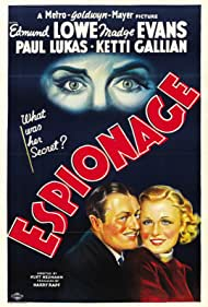 Madge Evans and Edmund Lowe in Espionage (1937)