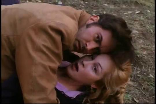 Kelly Rutherford and Bruce Campbell in The Adventures of Brisco County, Jr. (1993)