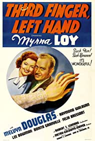 Myrna Loy and Melvyn Douglas in Third Finger, Left Hand (1940)