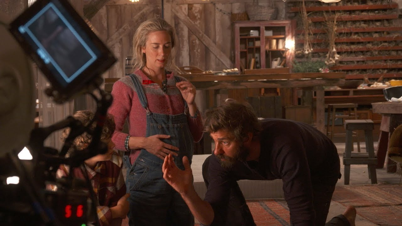 John Krasinski dan Emily Blunt dalam film A Quiet Place (2018)
