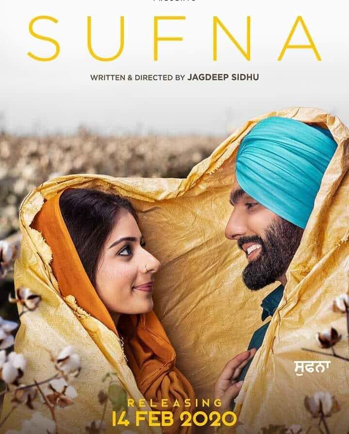 Sufna (2020) Punjabi 480p HDRip x264 AAC ESubs Full  (450MB) Full Movie Download