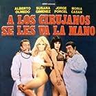 Moria Casán, Susana Giménez, Alberto Olmedo, and Jorge Porcel in A los cirujanos se les va la mano (1980)