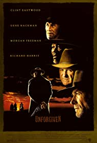 Clint Eastwood, Morgan Freeman, Gene Hackman, and Richard Harris in Unforgiven (1992)