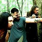 Scott Lane, Luke Walker, and Travis Graves in The Hike (2021)