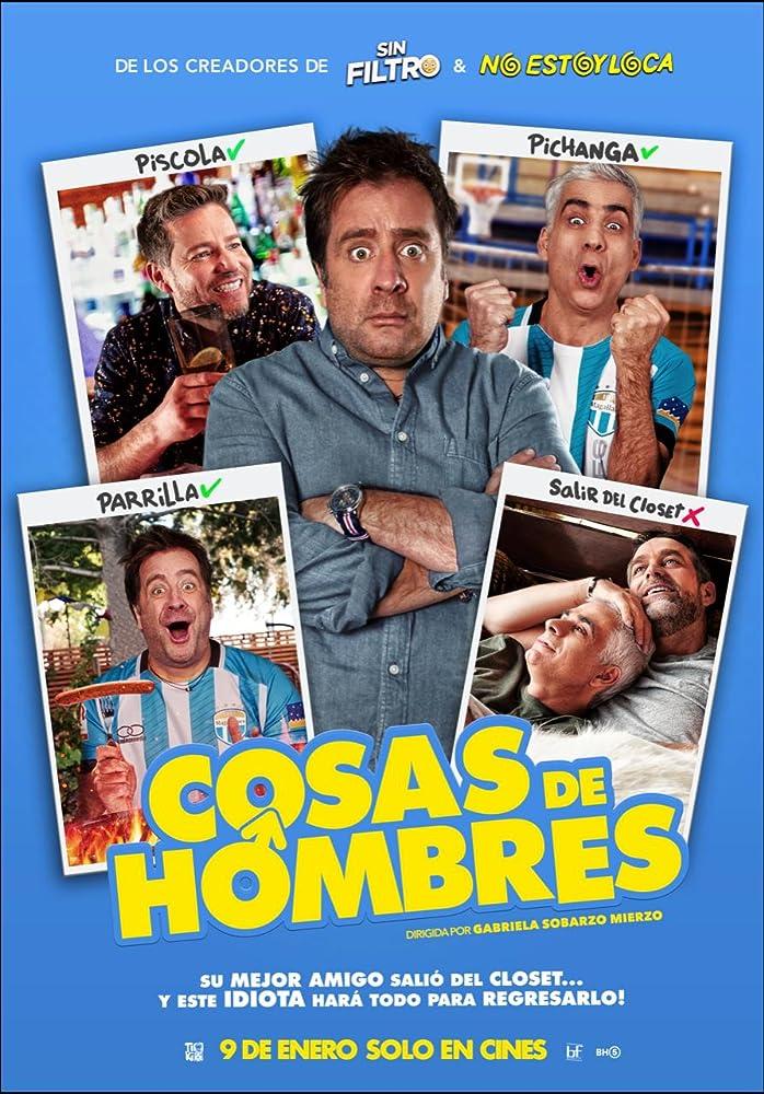 Felipe Braun, Boris Quercia, Marcial Tagle, and Pablo Zúñiga in Cosas de hombres (2020)