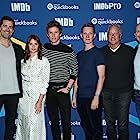 David Hoberman, Felicity Jones, Todd Lieberman, Col Needham, Eddie Redmayne, and Tom Harper at an event for The Aeronauts (2019)