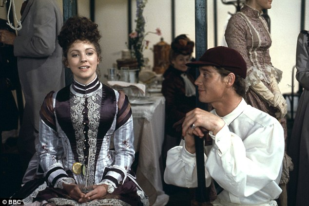 Anthony Andrews and Lynne Frederick in The Pallisers (1974)