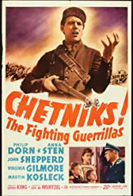 Sven Hugo Borg, Philip Dorn, Patricia Prest, Merrill Rodin, and Anna Sten in Chetniks (1943)