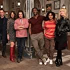Noah Wyle, Gina Bellman, Aldis Hodge, Christian Kane, Beth Riesgraf, and Aleyse Shannon in Leverage: Redemption (2021)