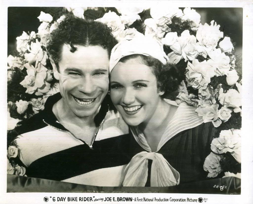 Joe E. Brown and Maxine Doyle in 6 Day Bike Rider (1934)