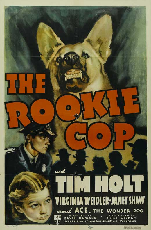 Tim Holt, Virginia Weidler, and Ace the Wonder Dog in The Rookie Cop (1939)