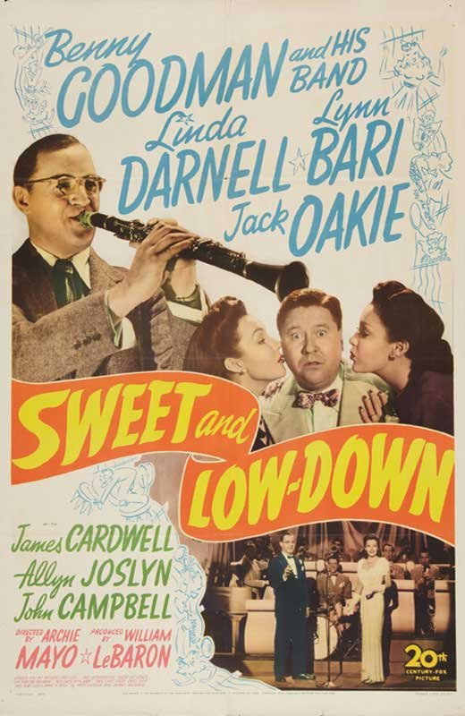 Linda Darnell, Lynn Bari, Jack Oakie, and Benny Goodman and His Orchestra in Sweet and Low-Down (1944)