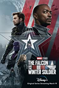 Daniel Brühl, Wyatt Russell, Emily VanCamp, Anthony Mackie, Sebastian Stan, and Erin Kellyman in The Falcon and the Winter Soldier (2021)