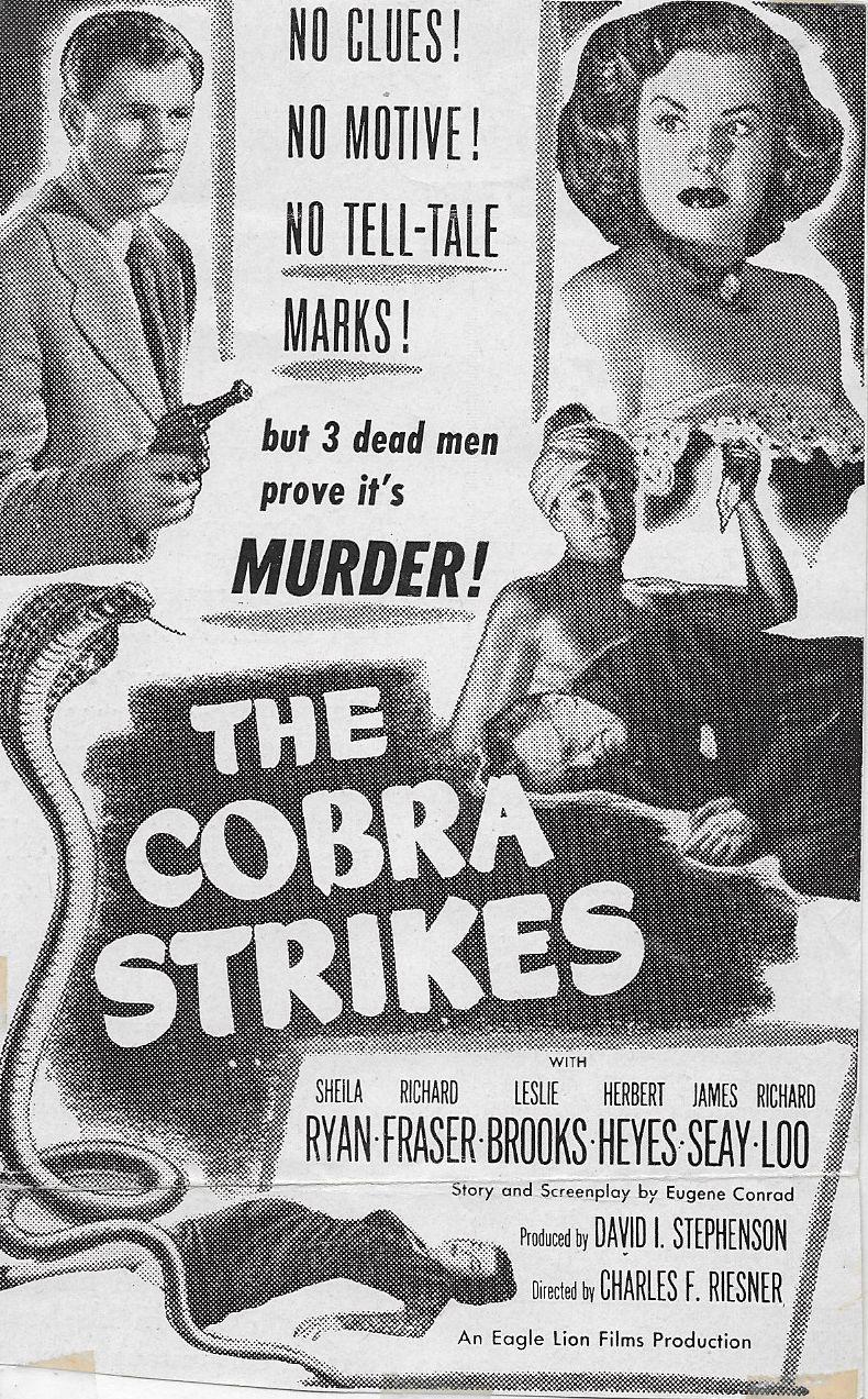 Richard Fraser, Richard Loo, and Sheila Ryan in The Cobra Strikes (1948)
