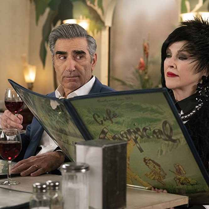 Catherine O'Hara and Eugene Levy in Schitt's Creek (2015)