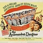 Olivia de Havilland, John Forsythe, Myrna Loy, Edward Arnold, Adolphe Menjou, and Tommy Noonan in The Ambassador's Daughter (1956)
