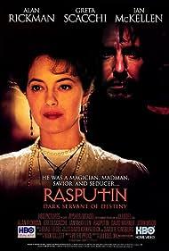 Alan Rickman and Greta Scacchi in Rasputin (1996)