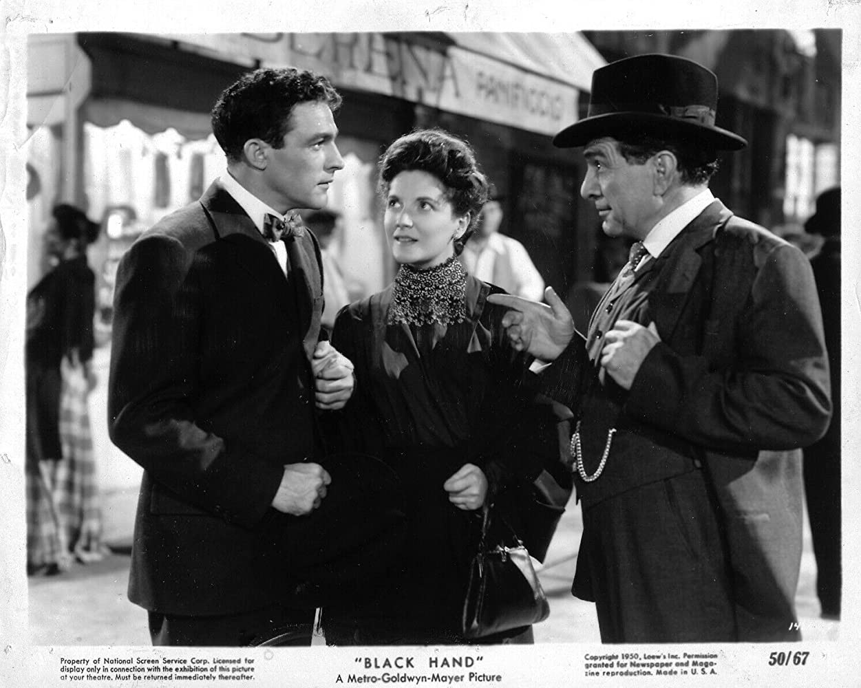 Gene Kelly, Teresa Celli, and J. Carrol Naish in Black Hand (1950)