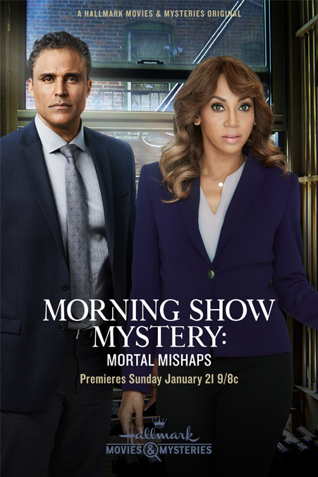 Holly Robinson Peete and Rick Fox in Morning Show Mystery: Mortal Mishaps (2018)