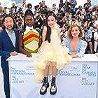 Kogonada, Jodie Turner-Smith, Haley Lu Richardson, and Malea Emma Tjandrawidjaja at an event for After Yang (2021)
