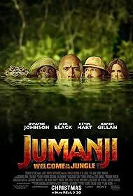 Jack Black, Kevin Hart, Dwayne Johnson, Mark Knapton, and Karen Gillan in Jumanji: Welcome to the Jungle (2017)