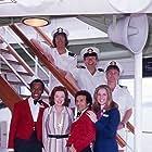 William Bassett, Ted Hamilton, Sandy Helberg, Terry O'Mara, Jeraldine Saunders, Joseph R. Sicari, and Teddy Wilson in The Love Boat (1976)