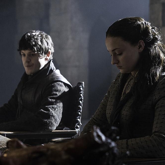 Iwan Rheon and Sophie Turner in Game of Thrones (2011)